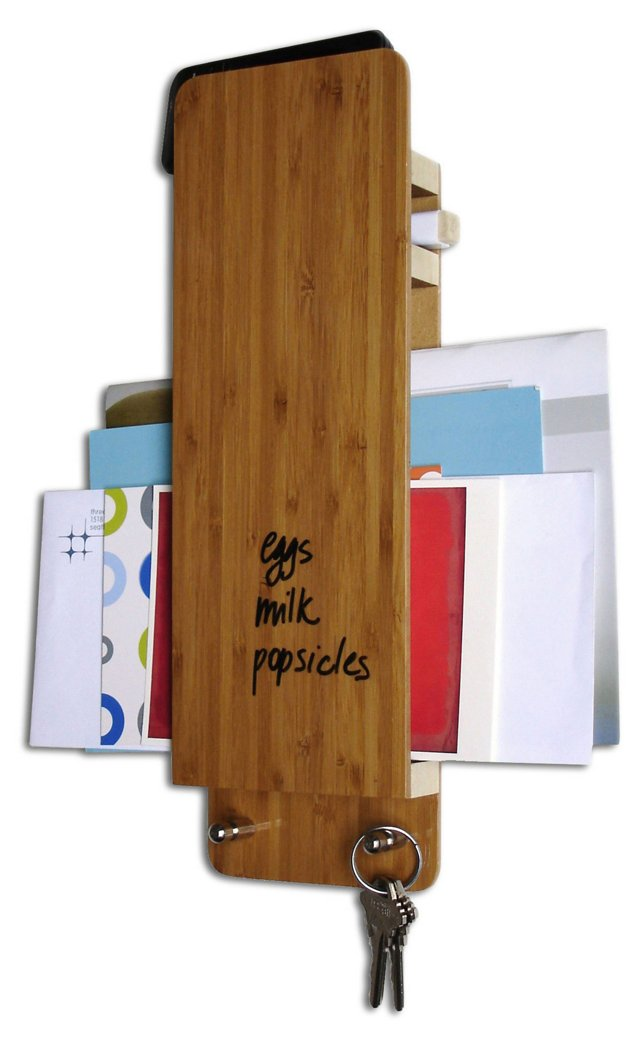 Dry-Erase Bamboo Entry Butlers, S/2