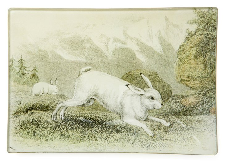 5x7 Mountain Hare Tray