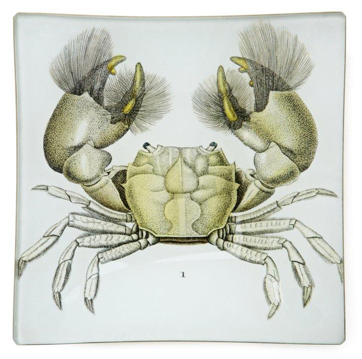 Hand-Decoupaged Crab Tray