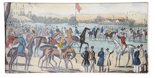 Jockeys With Flag Tray