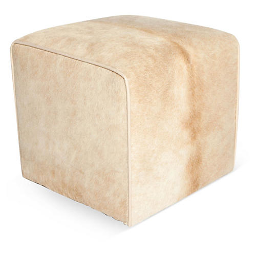 "Waterfall 18"" Pouf, Beige"