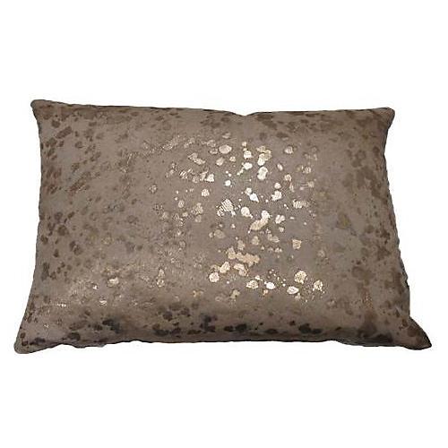 Splash 12x18 Lumbar Pillow, Gold