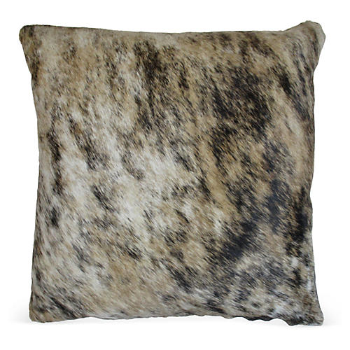 Light Brindle Pillow, Beige
