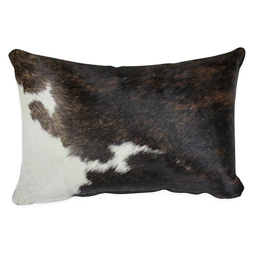 Cloud Lumbar Pillow, Brown/White