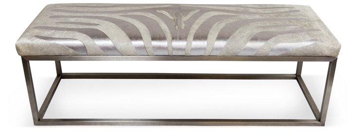 "Christine 24"" Bench, Silver Zebra"