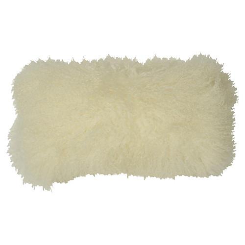 Tibetan Lumbar Pillow, Cream
