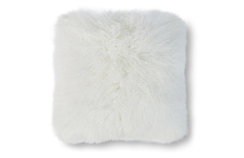 Tibetan 24x24 Pillow, White