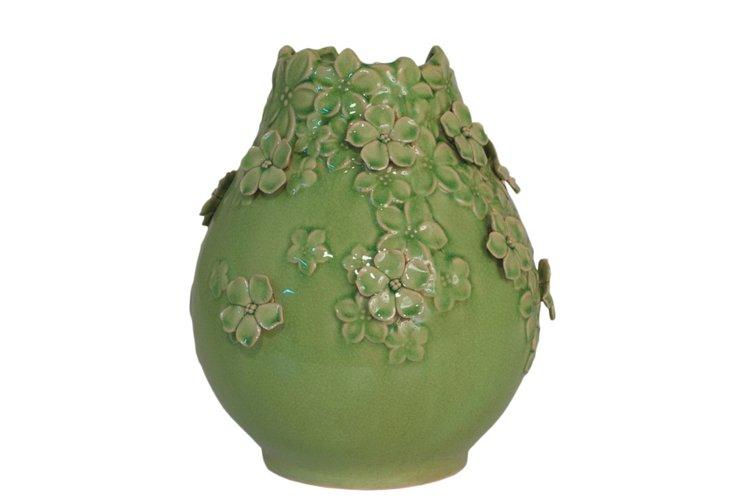 "11"" Ceramic Flower Vase"