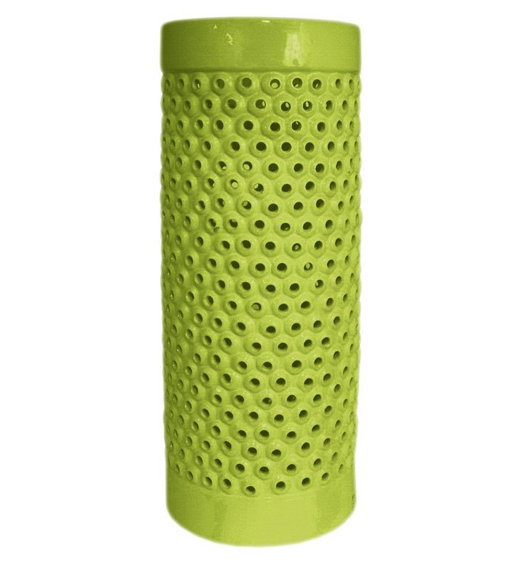"18"" Pierced Umbrella Stand, Green"