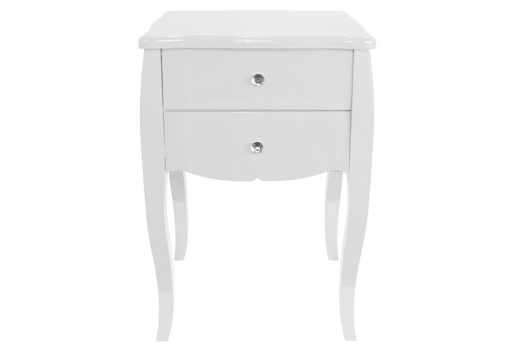Darla Side Table, White