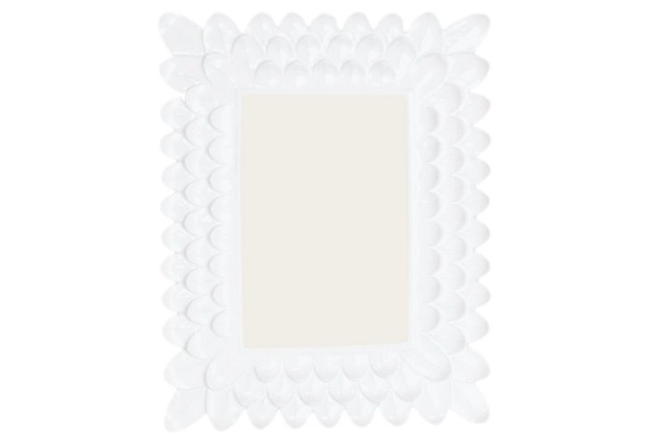 4x6 Petal Frame, White