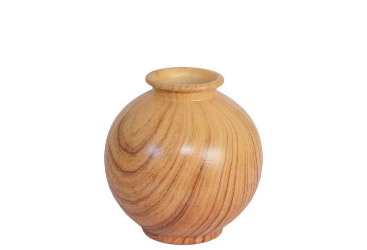 """7"""" Faux Bois Vase"""