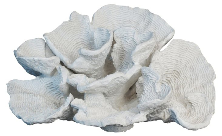 "13"" Decorative Coral, White"