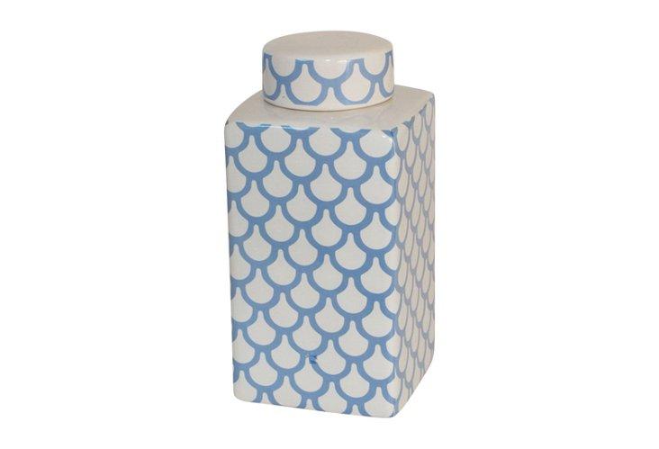 Covered Ceramic Jar, Short
