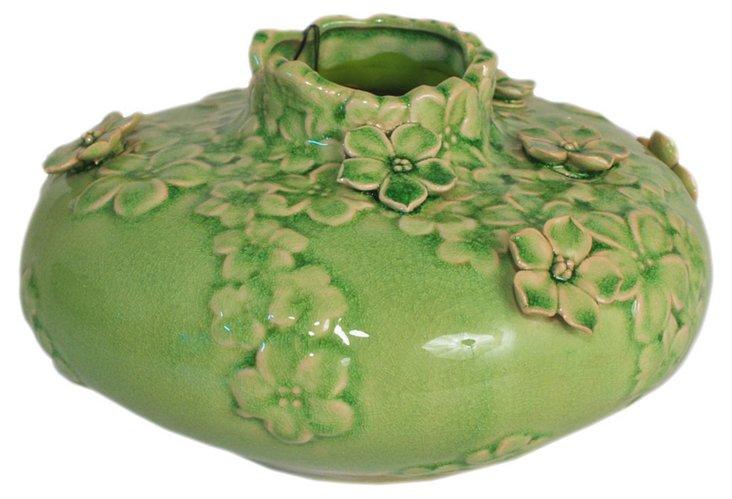 "5"" Floral Ceramic Vase, Green"