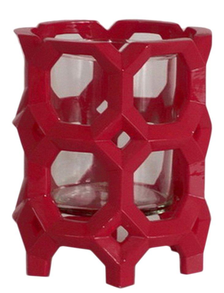 "6"" Geometric Candleholder"