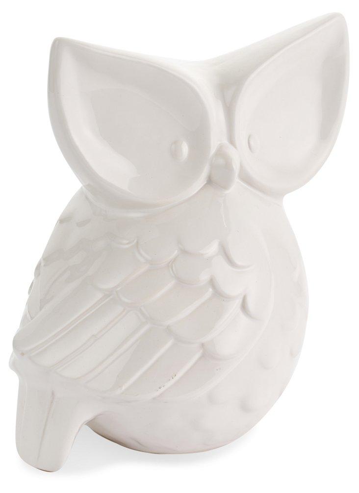 """10"""" Owl Objet, White"""