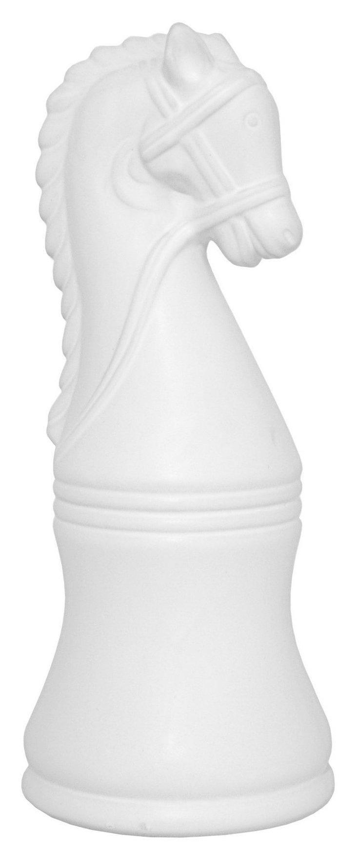 "12"" Knight Figurine, White"