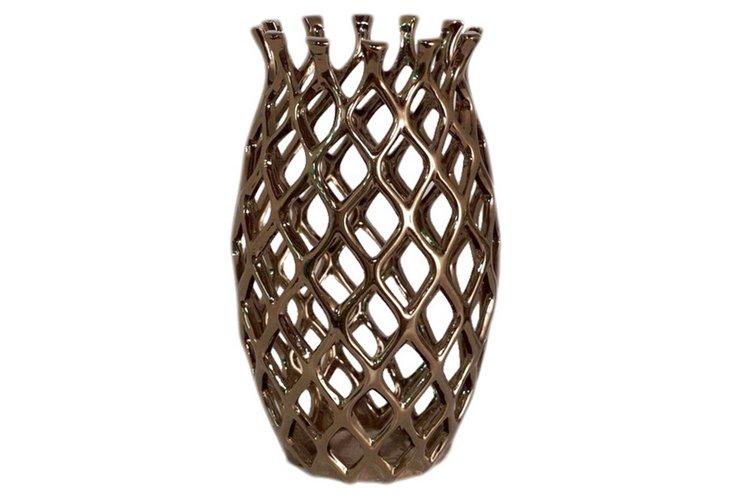 Pierced Ceramic Vase, Large
