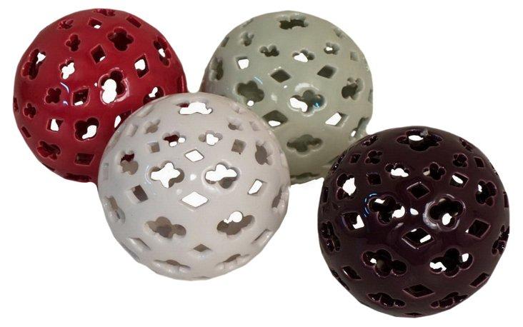 4 Asst. Pierced Lanterns, Small
