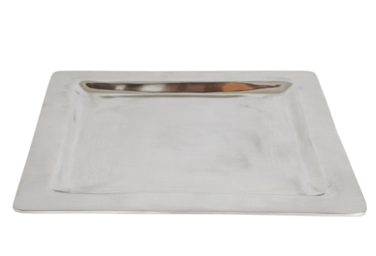 15x15 Shallow Silver Tray