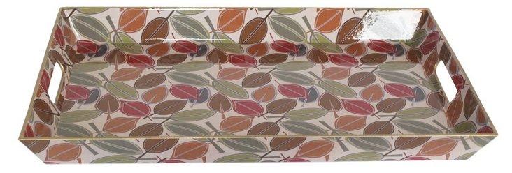 18x12 Patterned Leaf Tray