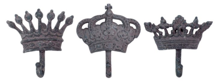 Crown Wall Hooks Set