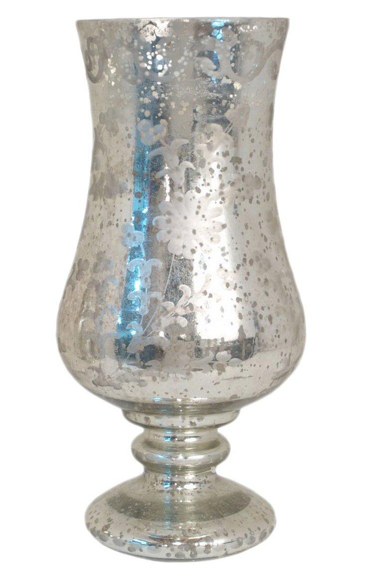 """15"""" Mercury Glass Hurricane"""