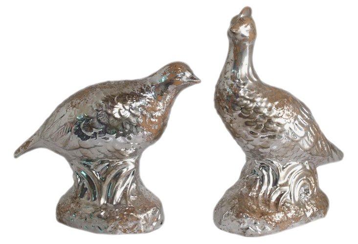 Ceramic Partridges, Asst. of 2