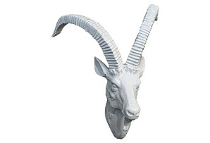 Ibex Head Plaque