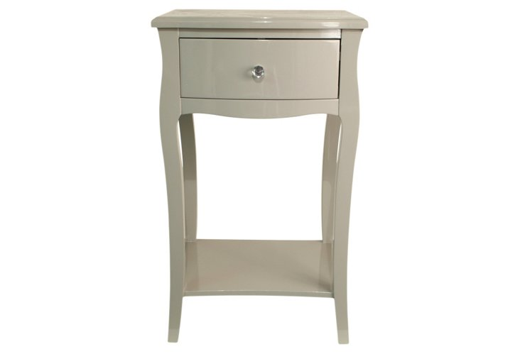Cole Wood Cabinet, Gray