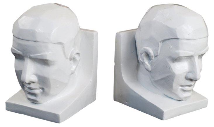 Male Head Bookends