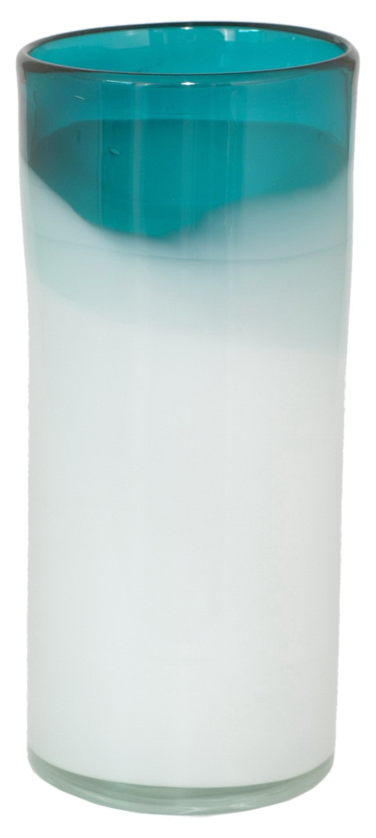 """13"""" Two Toned Glass Vase"""