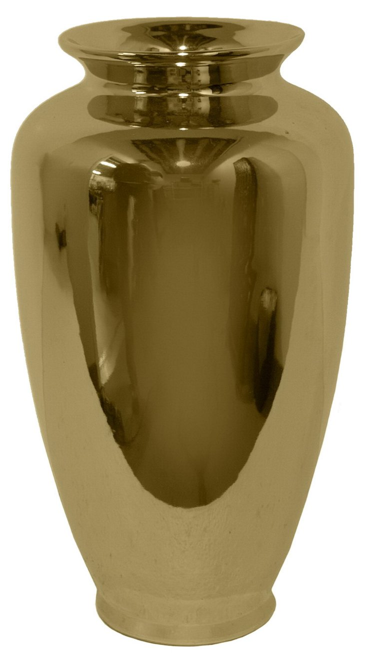 """14"""" Gold Plated Vase"""