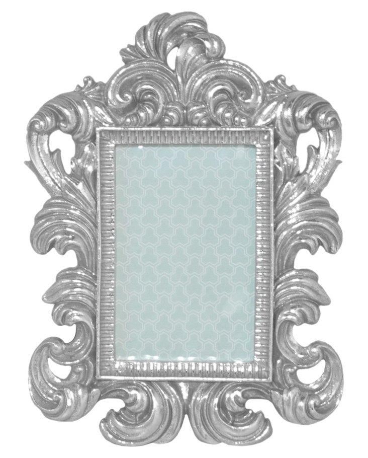 4x6 Ornate Frame, Silver