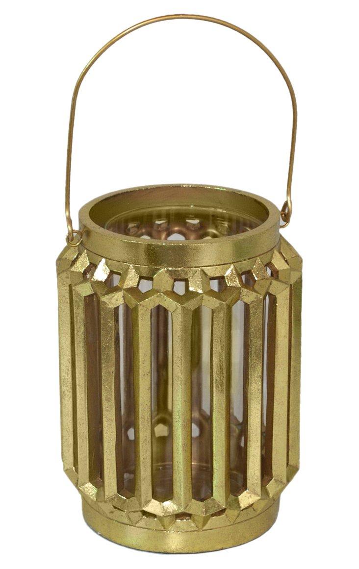 "8"" Candle Lantern, Gold"