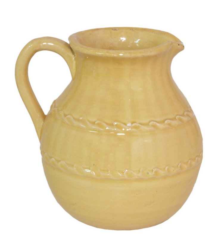 Ceramic Pitcher, Yellow