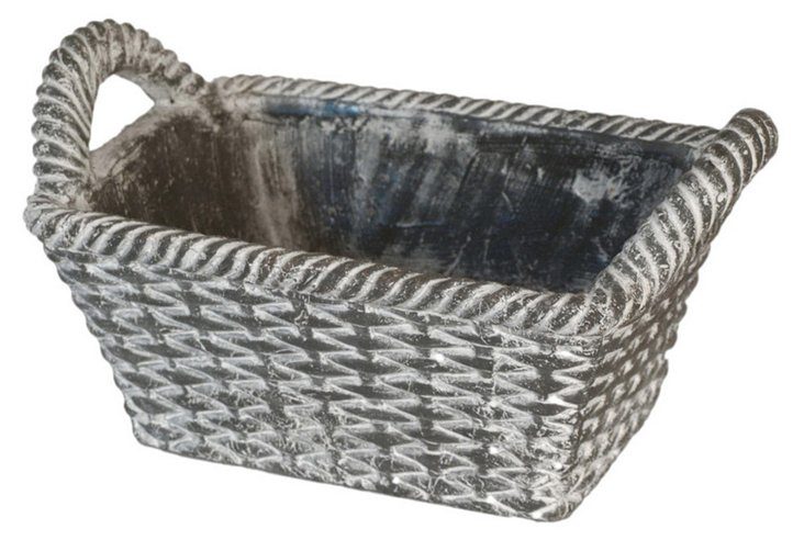 Rectangular Basket Planter, Small