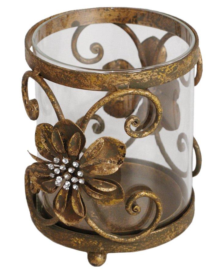 Floral Candleholder, Short