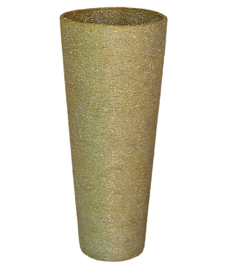 """12"""" Dusted Gold Vase"""