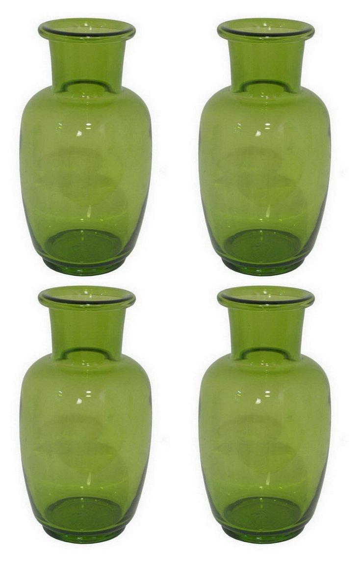 S/4 Jug Vases, Green