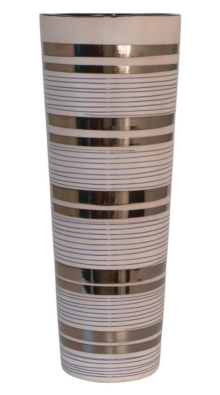 "19"" Bronze Striped Vase"