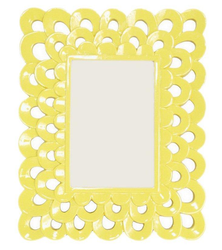 4x6 Scalloped Frame, Yellow