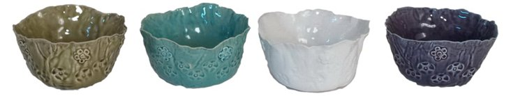 Free Form Floral Vases, Asst. of 4