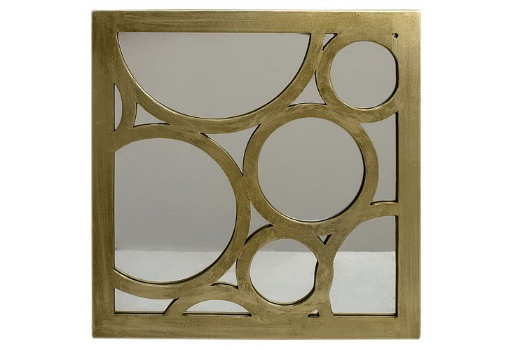 Square Overlapping Circles Mirror