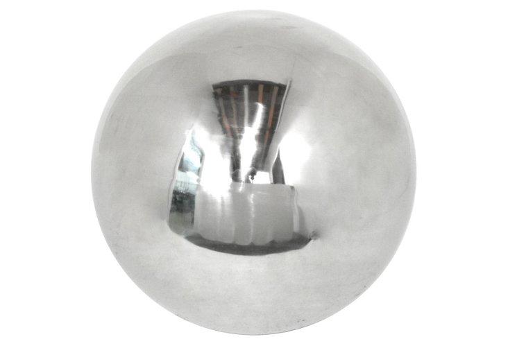"""20"""" Metal Orb, Silver"""