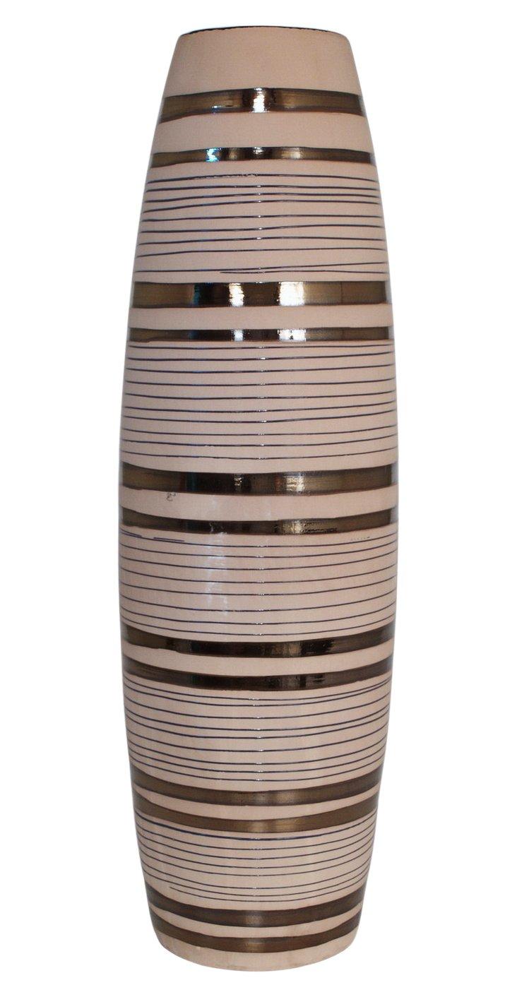 "20"" Bronze Striped Vase"
