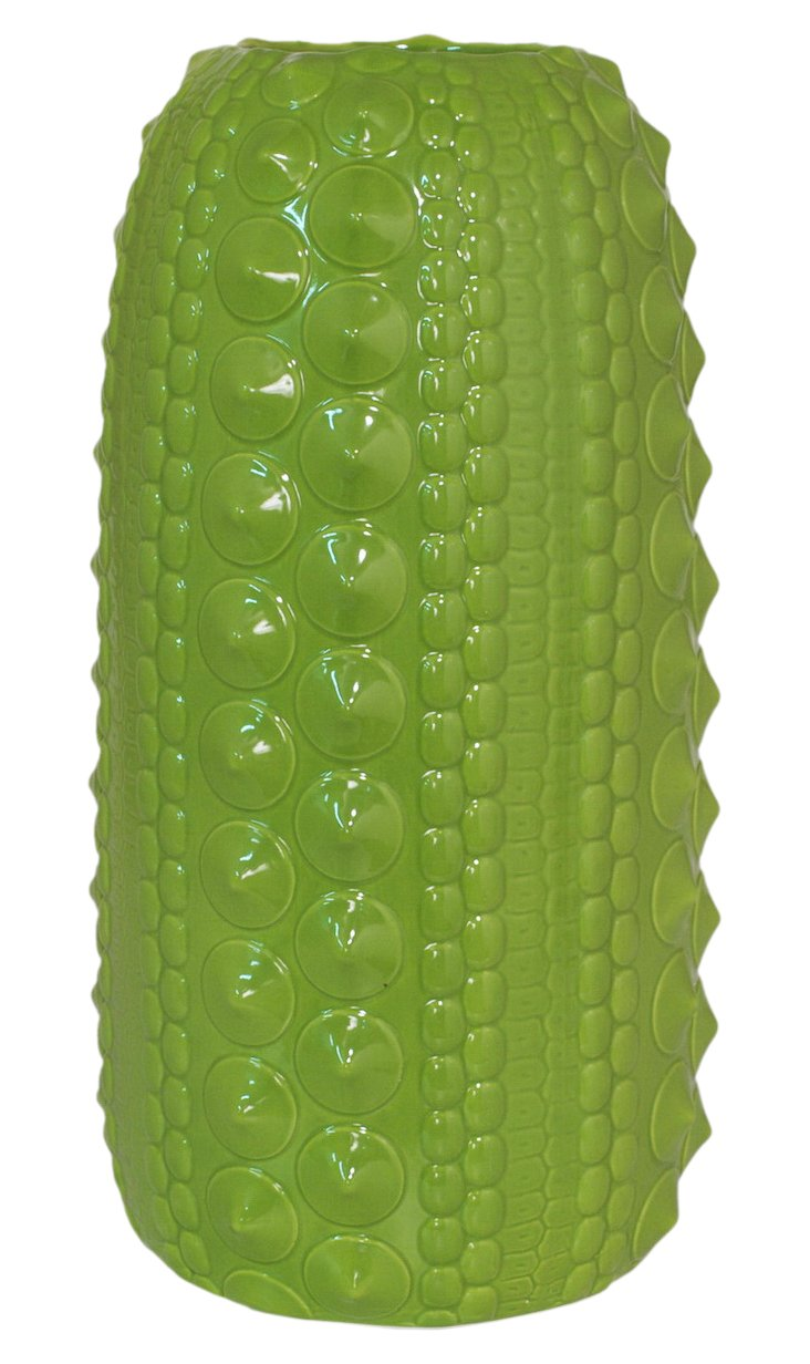 "19"" Textured Lime Vase"