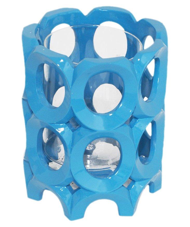 """6"""" Resin & Glass Candleholder"""
