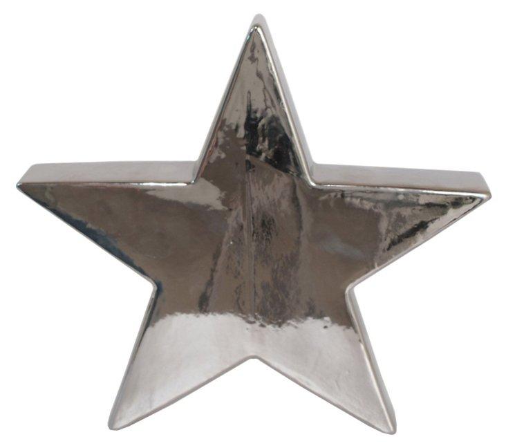 """12"""" Decorative Star, Silver"""